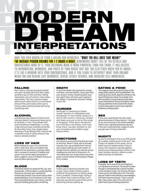 Dream Interpretations Mark Hayes Ottawa Ontario UMM