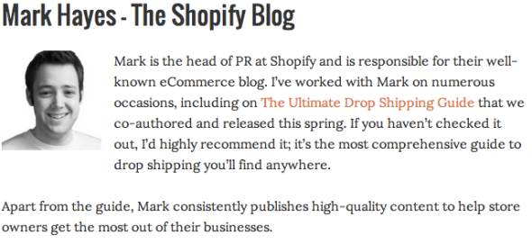 Mark Hayes Shopify Blog