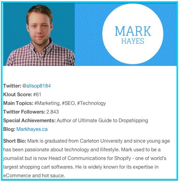 Mark Hayes Shopify Canada
